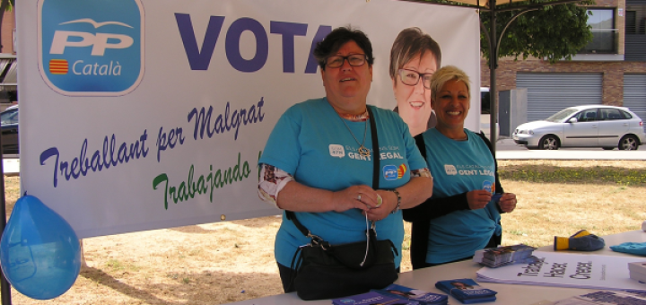 Ana Vega, les passades eleccions a Malgrat (Foto: malgratcomunicacio)