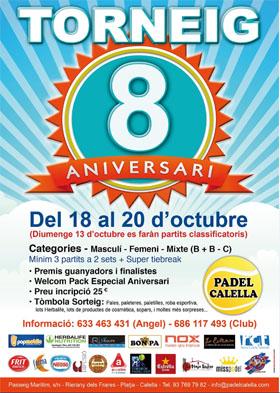 CL - Padel Calella - Torneig octubre