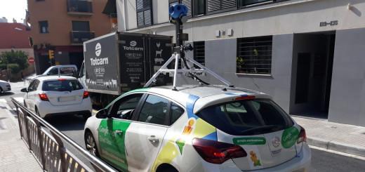 El cotxe de Google Street View, avui a Calella