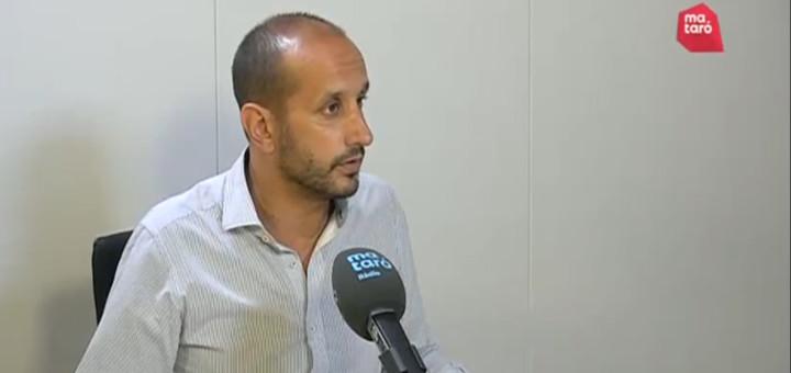 El president del Consell Comarcal del Maresme durant l'entrevista a Mataró Audiovisual