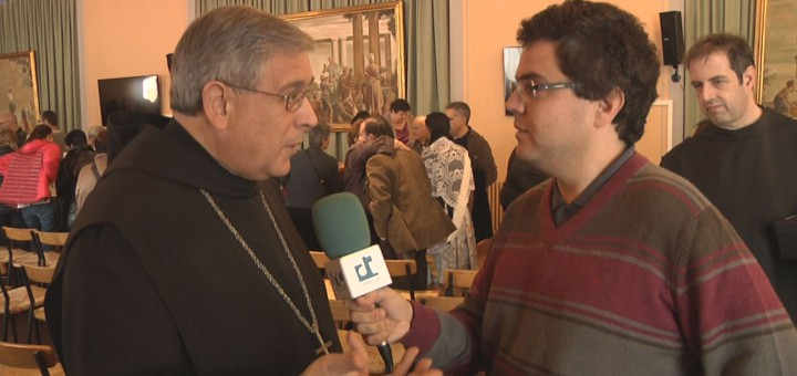 Francesc Pardo, quan Ràdio Calella TV el va entrevistar a Montserrat
