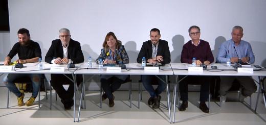 Els representants dels partits polítics municipals durant l'Audiència Pública