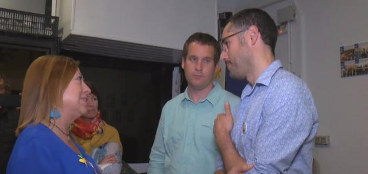 Ponsdomènech va visitar la seu de Junts per Calella la nit electoral