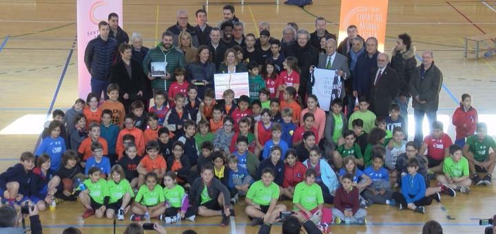 Acte celebrat a Sant Cugat en què Calella va iniciar els actes de Ciutat del Bàsquet Català