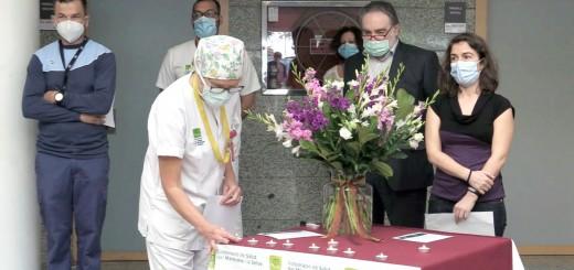 El Dr. Franch durant l'homenatge a les víctimes de la Covid.