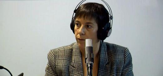 La diputada Mònica Palacín (ERC) en una entrevista als estudis de Ràdio Calella TV