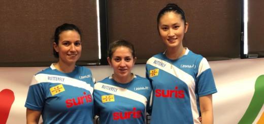 Gabi Feher, Alba Fernández i Sofia Xuan Zhang han estat les jugadores del Suris