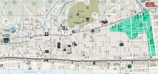 Aquest és el mapa de carrers on es planteja la implementació de la zona verda