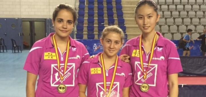 Triplet del Suris Calella als Campionats d'Espanya Juvenils