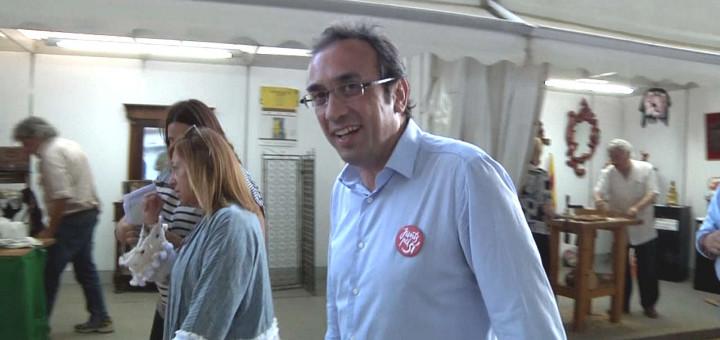 Josep Rull, a la Fira de Calella