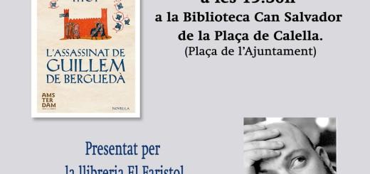 Cartell promocional de la presentació d'aquesta tarda