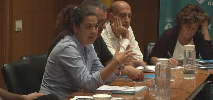 Lorena Sánchez durant l'última sessió plenària