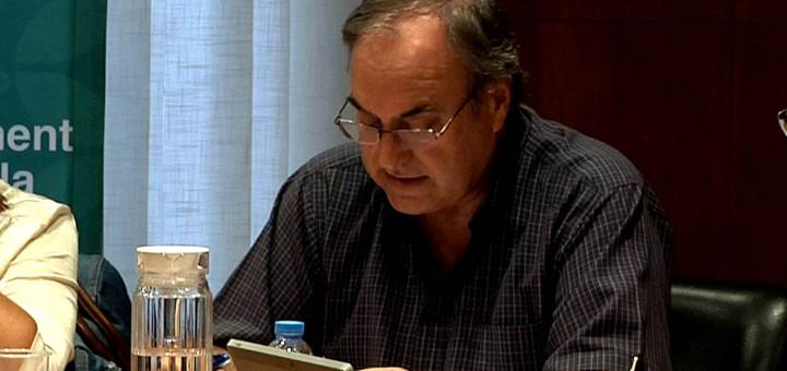 Jordi SItjà durant l'última sessió del ple