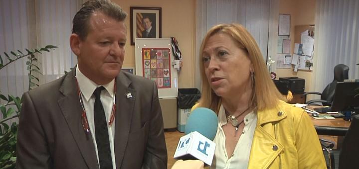 Miquel Àngel Martínez amb Montserrat Candini, Calella, ahir al vespre