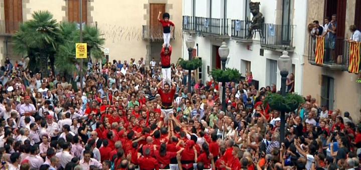 Diada Castellera a Calella, 19/09/2015