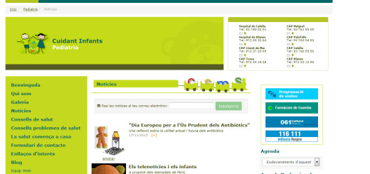 """Web """"Cuidant Infants"""""""