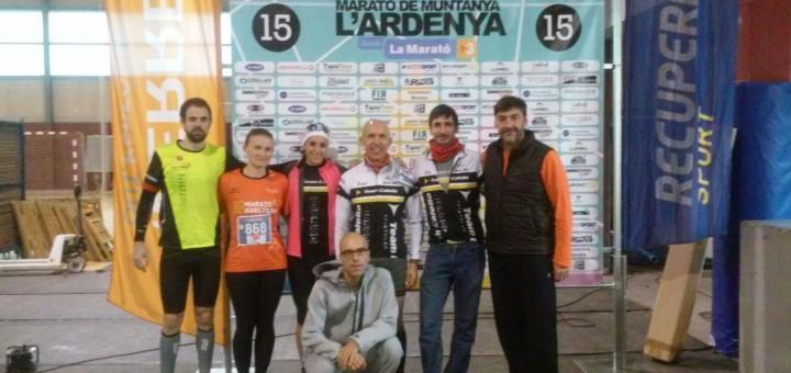 Participants calellencs a la Marató de muntanya l'Ardenya