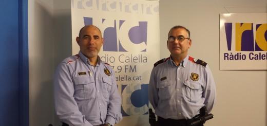 Josep Pujadas i Llorenç Silva als estudis de Ràdio Calella