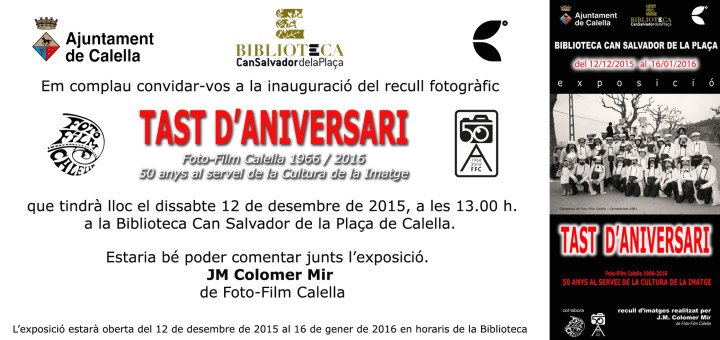 invitació acte inaugural tast d'aniversari colo copia