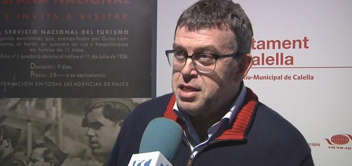 Jordi William Carnes durant la visita divendres a Mutur