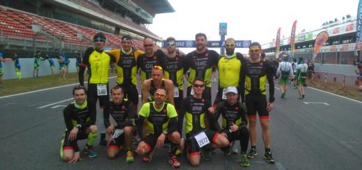 Integrants del Team Calella al Duatló de Montmeló, ahir diumenge