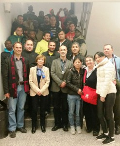 Visita Programa TALC a l'Hospital de Calella Foto grup