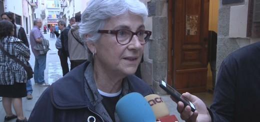Muriel Casals durant una visita a Calella el maig del 2013
