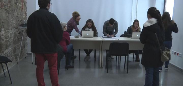 Membres de Filmax durant la sessió informativa avui a l'Ajuntament Vell