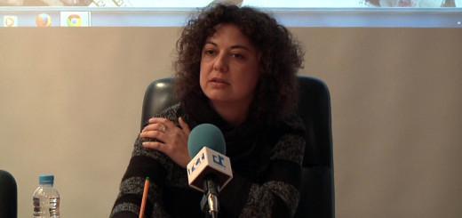 Lorena Sánchez durant la presentació de la nova web de l'Ajuntament, arxiu