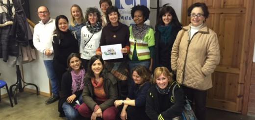 Els alumnes de l'Oficina de Català han visitat els estudis de Ràdio Calella Televisió avui dimecres