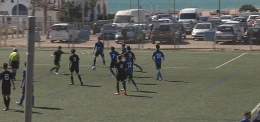Imatge del partit entre el CF Calella i el Dosrius