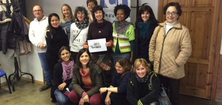 Els alumnes de l'Oficina de Català han visitat els estudis de Ràdio Calella Televisió