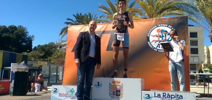El calellenc Dani Blanchart al podi del Triatló Doble Olímpic Terres de l'Ebre