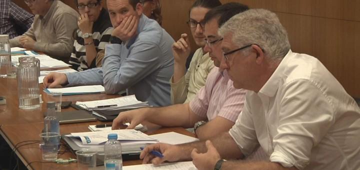 Sebastià Tejada durant una sessió del ple, arxiu