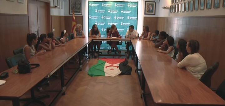 Arxiu: Recepció als nens i nenes saharauís acollits a Calella, estiu 2015