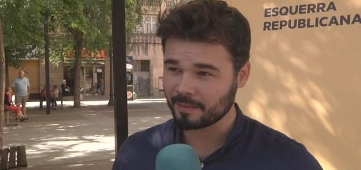 Gabriel Rufián, ahir a Calella
