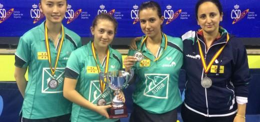 Equip del Suris que s'ha proclamat subcampió de la Copa de la Reina