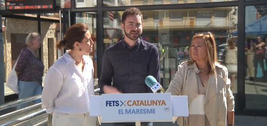 Xatart, Serret i Candini, ahir dimarts durant una roda de premsa a l'estació de Renfe