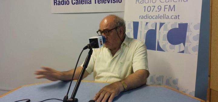 Jordi Sans, ahir a Ràdio Calella