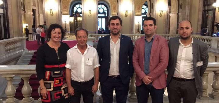 Els alcaldes del PSC de l'Alt Maresme amb el conseller de Salut