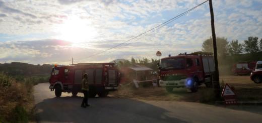Punt de trànsit incendi, avui dilluns. Foto: Ajuntament de Blanes