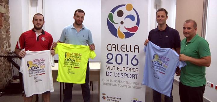 """Presentació de l'Open Handbol Platja """"Trofeu Ciutat de Calella"""", aquest matí"""