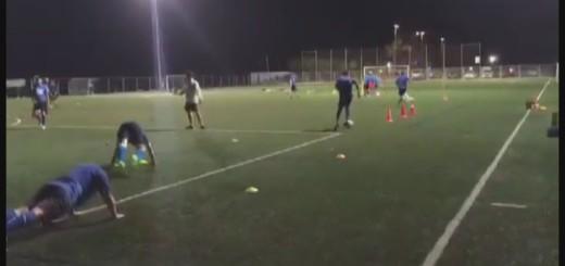 entrenament futbol calella