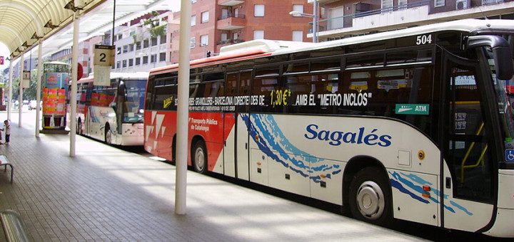 Un dels busos de Barcelona Bus