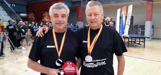 Font i Puig, subcampions d'Espanya de tennis taula a la categoria veterans