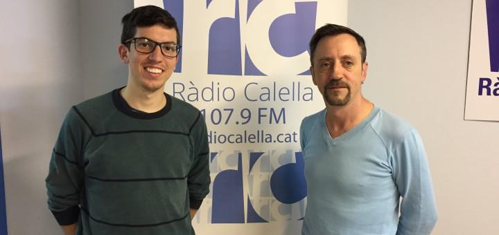 Joan Bosch i Alberto Fernández als estudis de Ràdio Calella