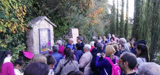Moment de la Romeria a Montserrat de la gent de Calella, l'any 2016