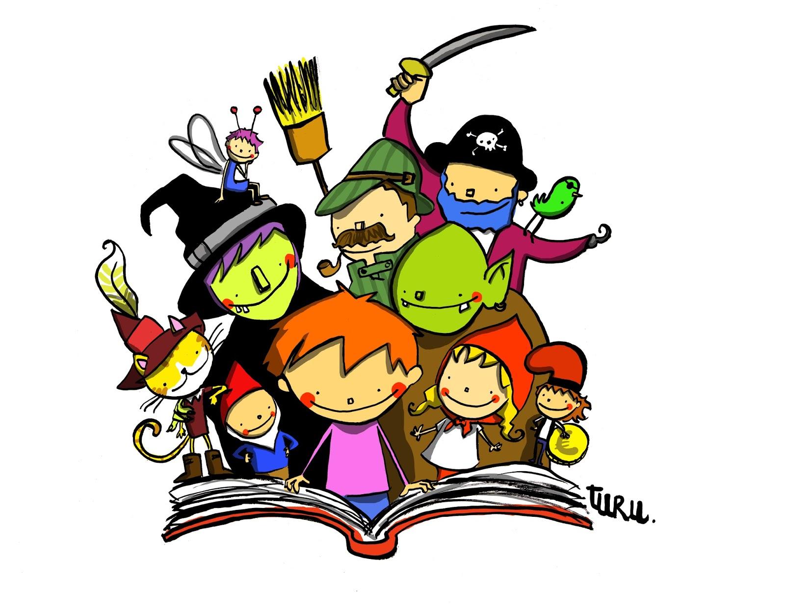 Resultat d'imatges de dibuix contes pati de l'escola