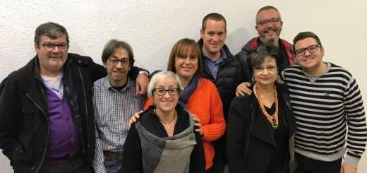 Integrants de la candidatura encapçalada per Marc Buch i Núria Parella