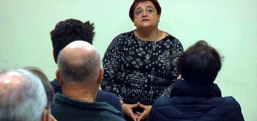 Ana Surra davant del públic calellenc, divendres passat